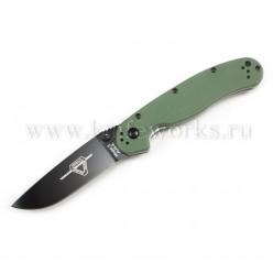 Ontario RAT Folder Model 2 Зеленая рукоять черный клинок