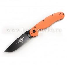 Ontario RAT Folder Model 2 Оранжевая рукоять черный клинок
