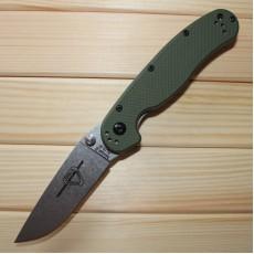Ontario RAT Folder Model 2 зелёная рукоять, матовый клинок